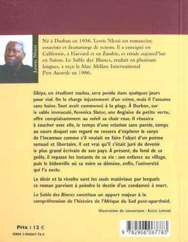 Le sable des blancs, Lewis Nkosi